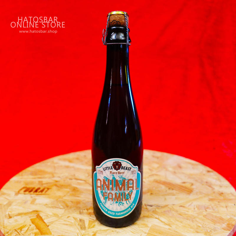 "BOTTLE#42『ANIMAL FAMILY』""アニマルファミリー""  Farmhouse Ale/9.0%/375ml by LITTLE BEAST Brewing"