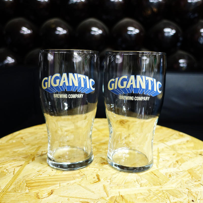 GIGANTIC PINT GLASS x2SET  ジャイガンティック パイントグラス2個セット  税込/送料込