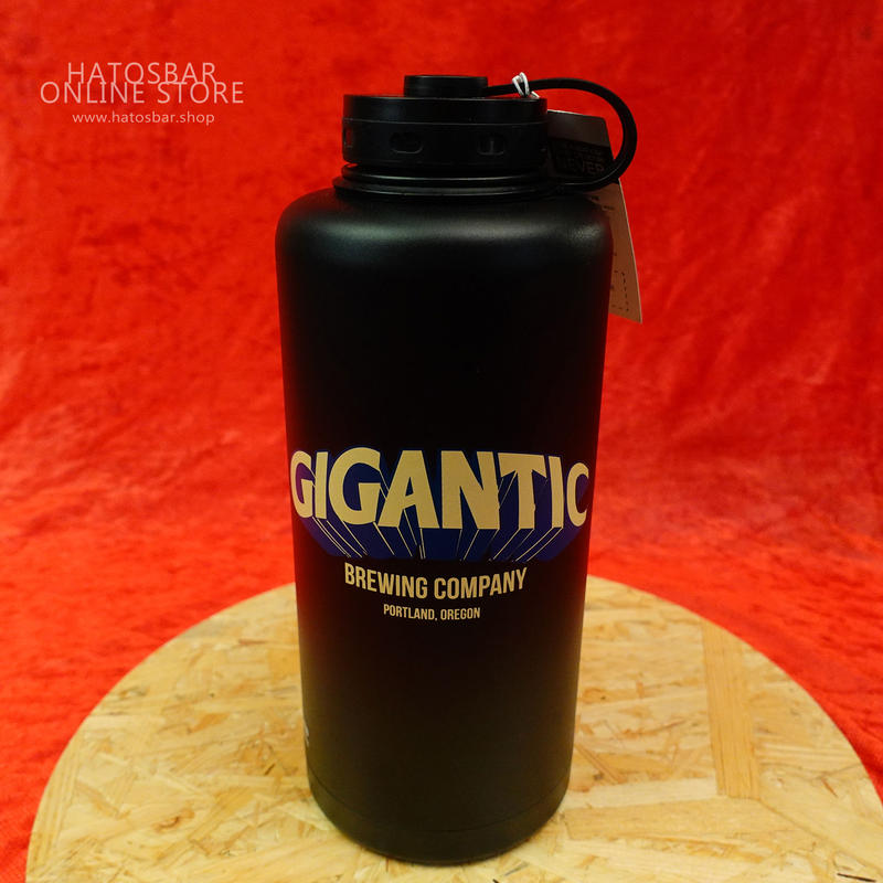 "『GIGANTIC Stainless Steel Growler』""ジャイガンティック ロゴ入グラウラー by GIGANTIC Brewing."