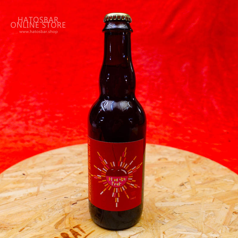 """BOTTLE#25『Hearts' Beat』""""ハーツビート"""" American Wild Ale/8.0%/375ml by UPRIGHT Brewing."""