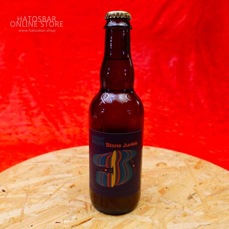 "BOTTLE#18『Stone Junkie』""ストーンジャンキー"" Saison/6.0%/375ml by UPRIGHT Brewing."