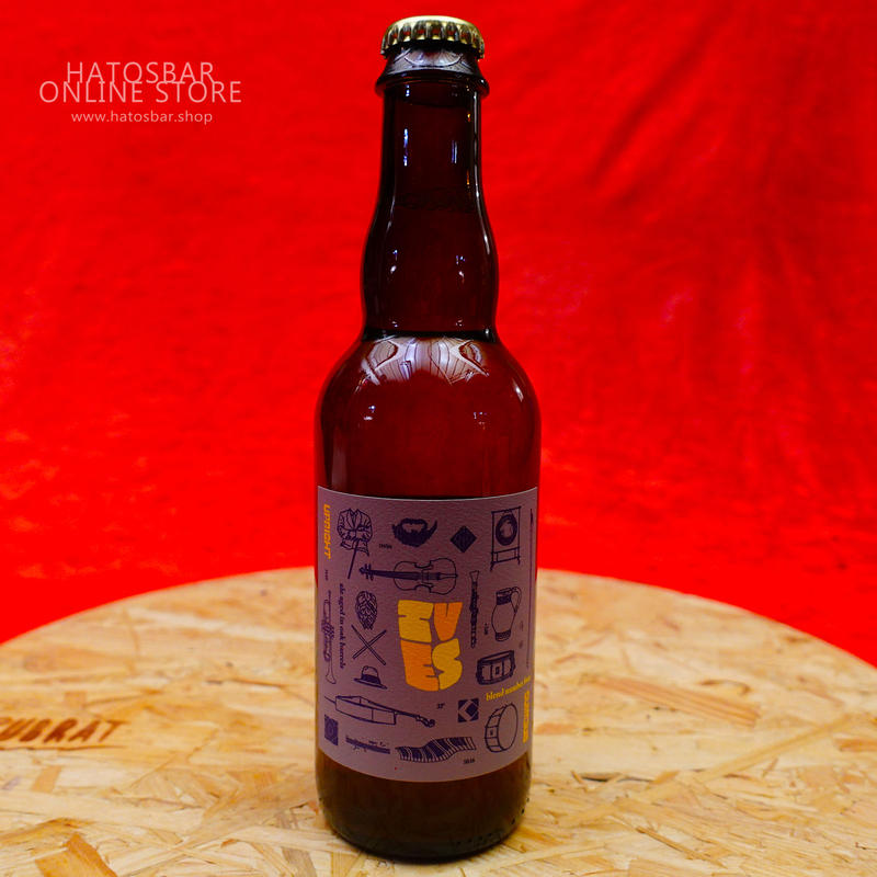 """BOTTLE#23『Ives edition4』""""アイヴス エディション4"""" Lambic/6.5%/375ml by UPRIGHT Brewing."""