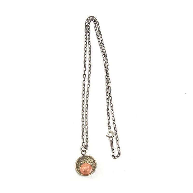 【メール便送料無料】<BUTTON WORKS> Dime Coin Necklace