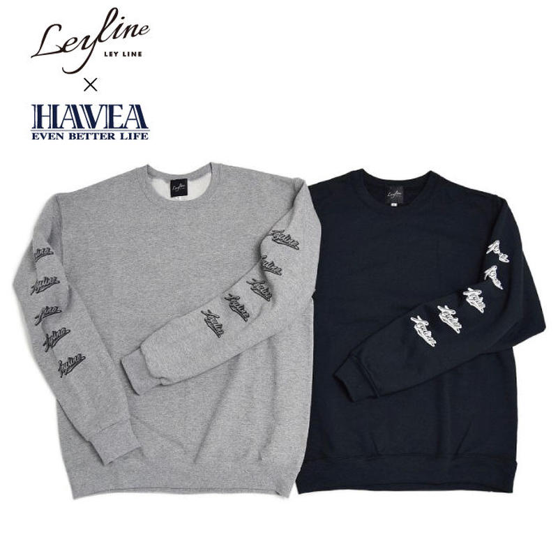【Leyline × HAVEA】Sleeve Print Sweat crew
