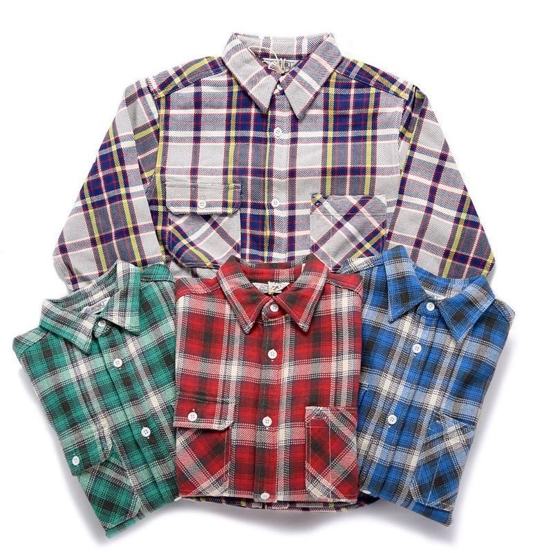 【FIVE BROTHER】 エキストラヘビーネルシャツ(厚手)