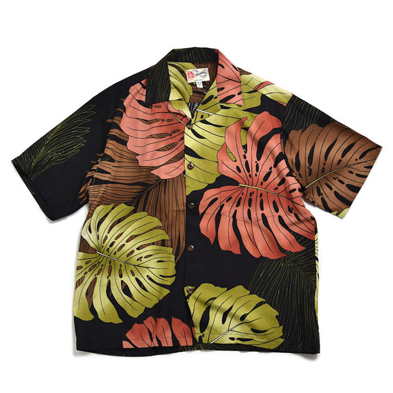 """【1color】 <Hilo Hattie / ヒロハッティ> アロハシャツ """"Monstera Palm Fronds"""""""