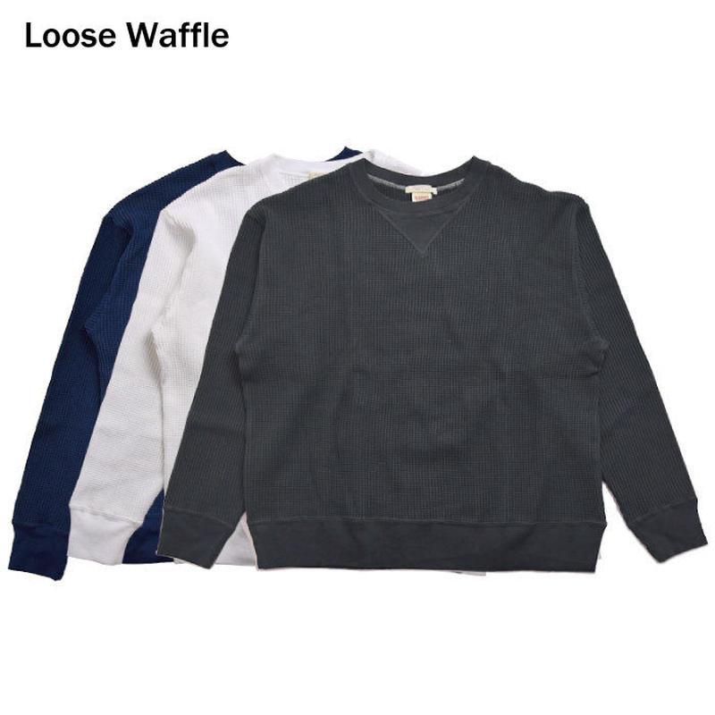 """<BARNS> """"LOOSE"""" Waffle Long Tee / ルーズワッフルロンT"""