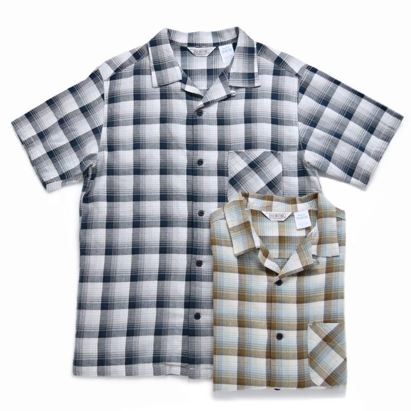【FIVE BROTHER】半袖オープンカラーライトネルシャツ 1516057