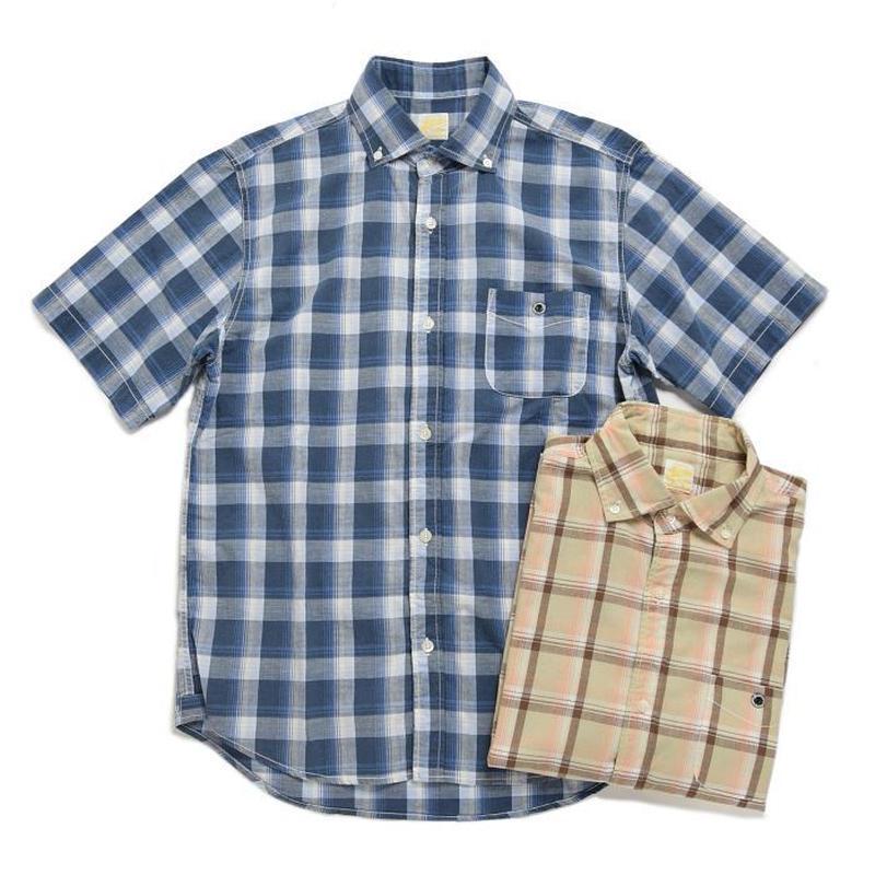 ※残りMサイズのみ! <BARNS> チェックBDシャツ BR-7551