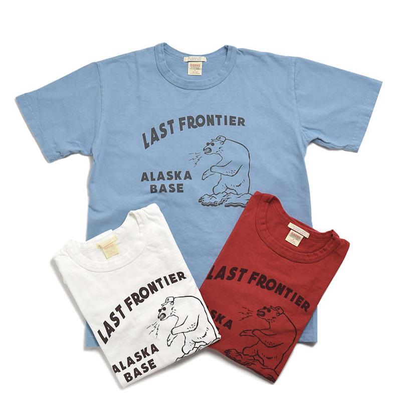 """<BARNS> Print Tee """"LAST FRONTIA ALASKA BASE"""""""