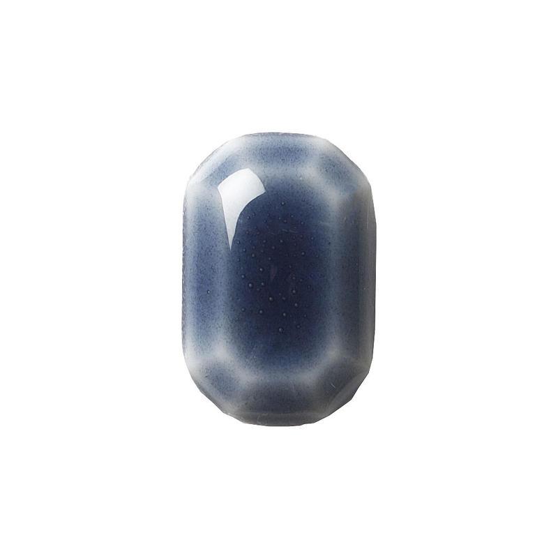 セラミックポストピアス 八角形・すっきり紺(HA-S3)