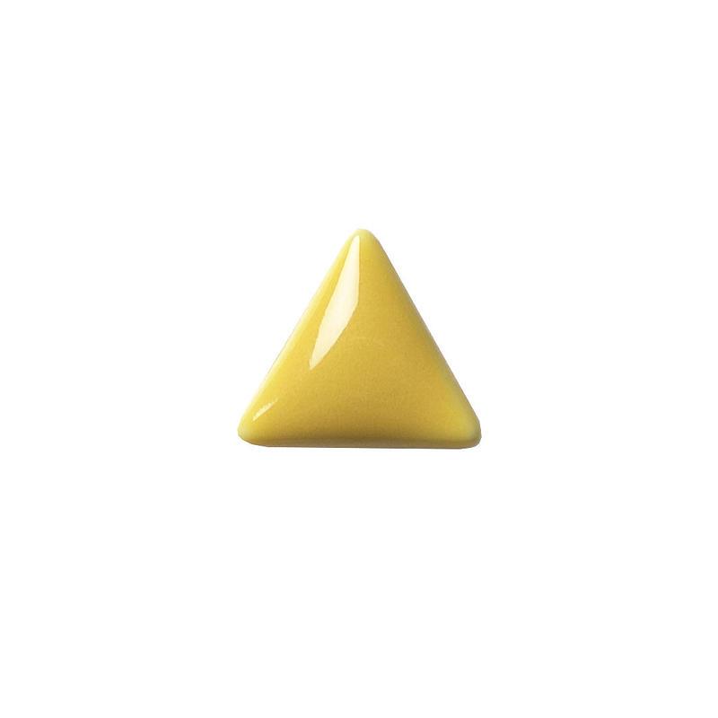 セラミックポストピアス 三角・ぷっくりイエロー(SA-P4)