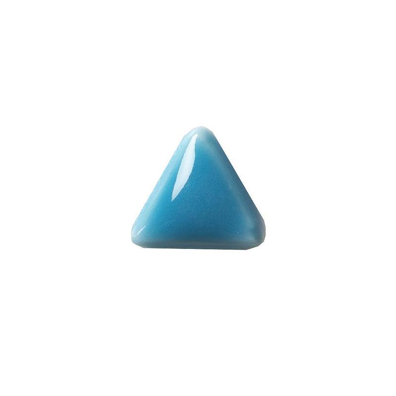 セラミックポストピアス 三角・ぷっくりブルー(SA-P2)