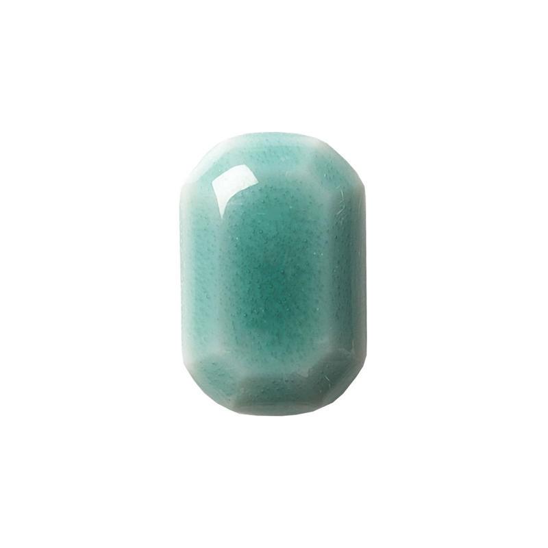 セラミックポストピアス 八角形・すっきりグリーン(HA-S6)