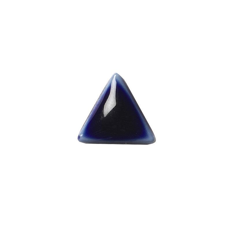 セラミックポストピアス 三角・ぷっくり紺(SA-P3)