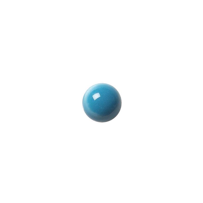 セラミックポストピアス 丸・ぷっくり水色(KO-P2)