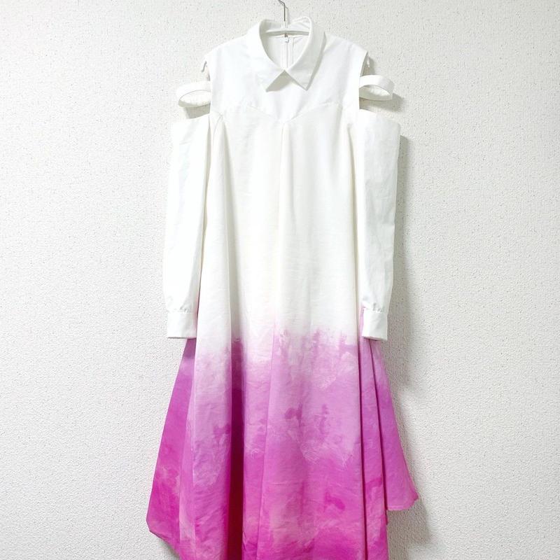 【4/26~5/25 WEB注文受付中】見えないものを見ようとして見上げたサクラのシャツドレス