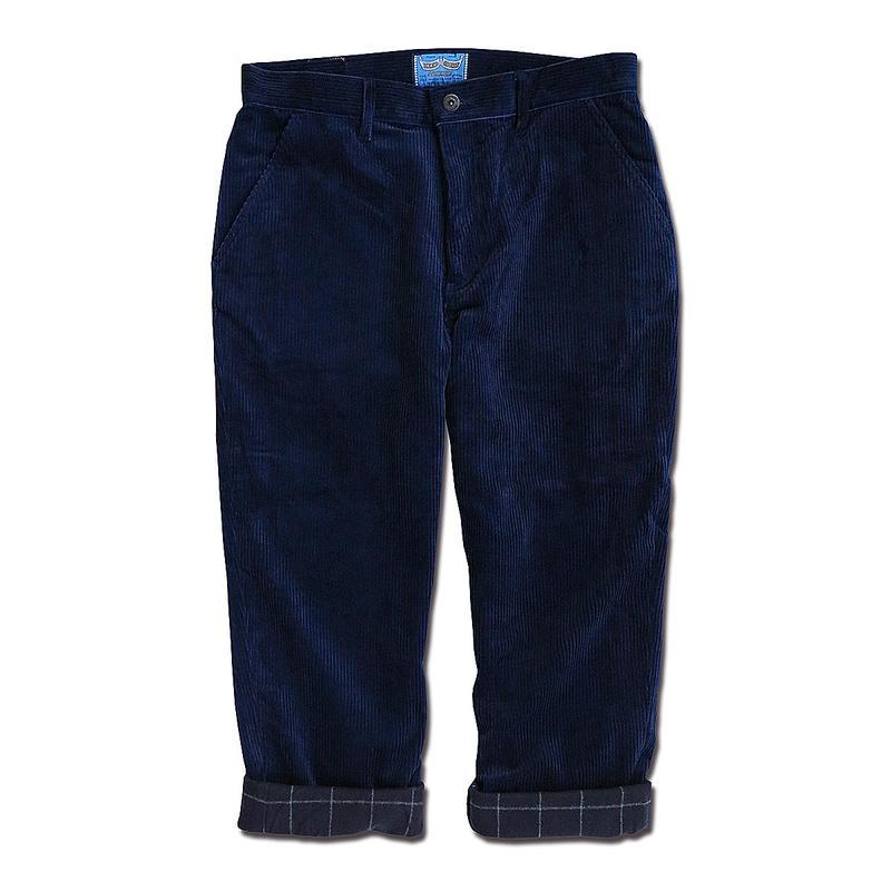 INDIGO CORDUROY PANTS
