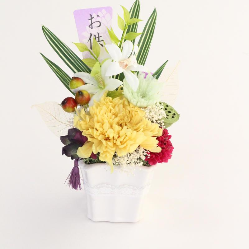 お供え用プリザーブドフラワー・大輪菊アレンジメント