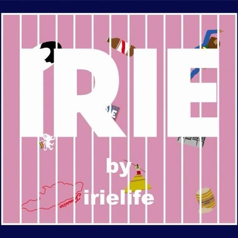 JAMAICAN ICON LOGO TEE -IRIE by irielife-(Navy)