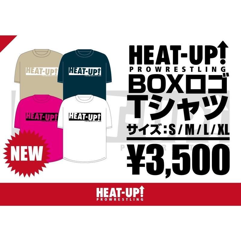 【NEW】BOXロゴTシャツ【ベージュ×ホワイト】