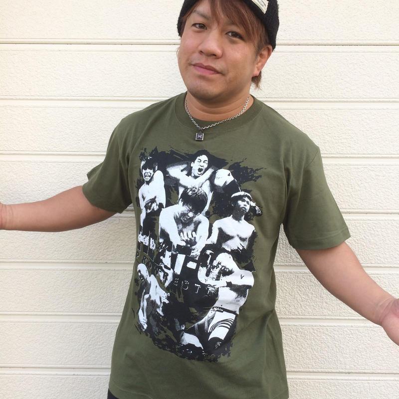【ラスト1枚】HEAT-UPフォトTシャツ【カーキ】