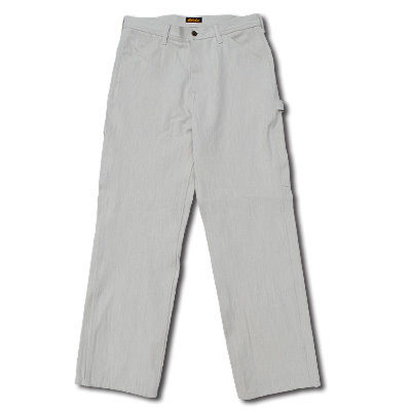 HARDEE HIGHEST HERRINGBONE PAINTER PANTS WHITE