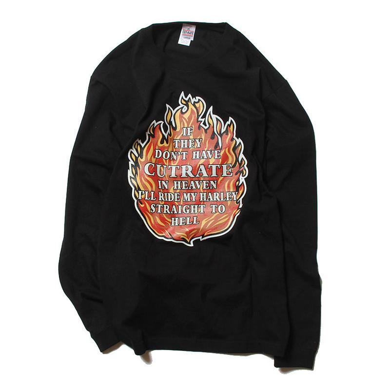 CUTRATE FLAME L/S T-SHIRT BLACK