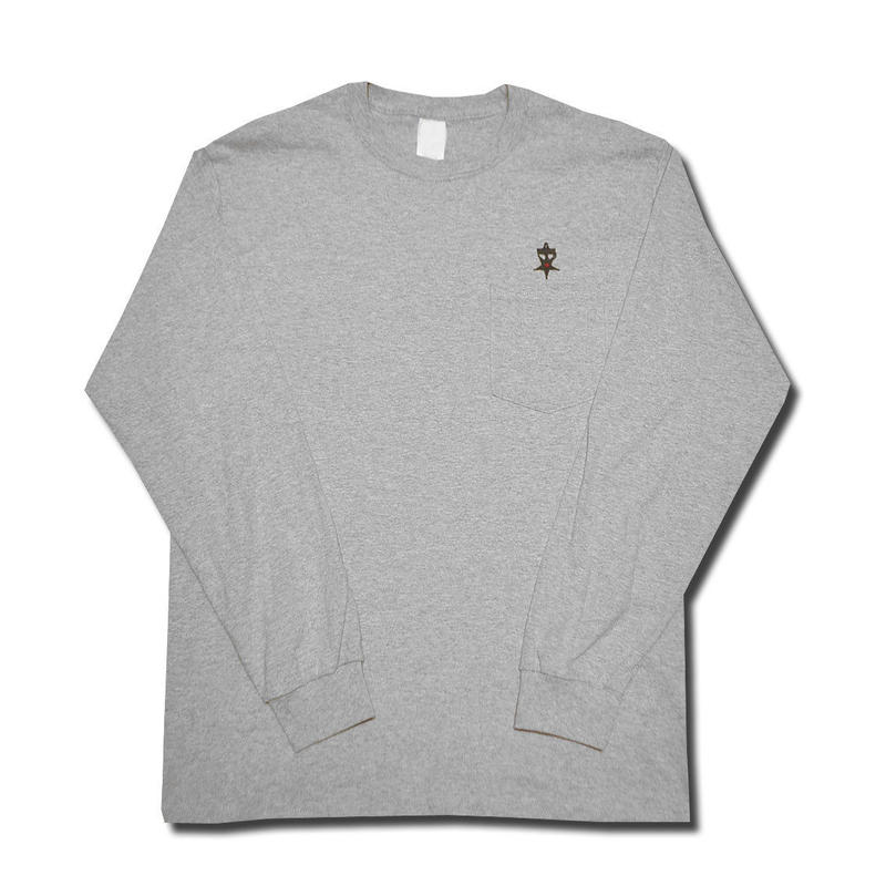 HARDEE UNSAFETY L/S POCKET T-SHIRT GRAY