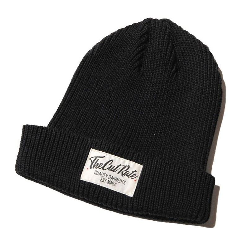CUT RATE KNIT CAP BLACK CR-18SS014