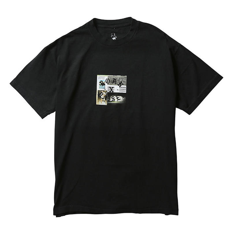 BORN X RAISED PARTYSQUARE TEE  BLACK