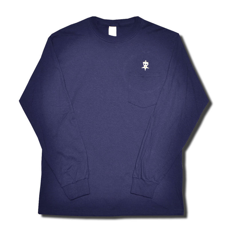 HARDEE UNSAFETY L/S POCKET T-SHIRT NAVY
