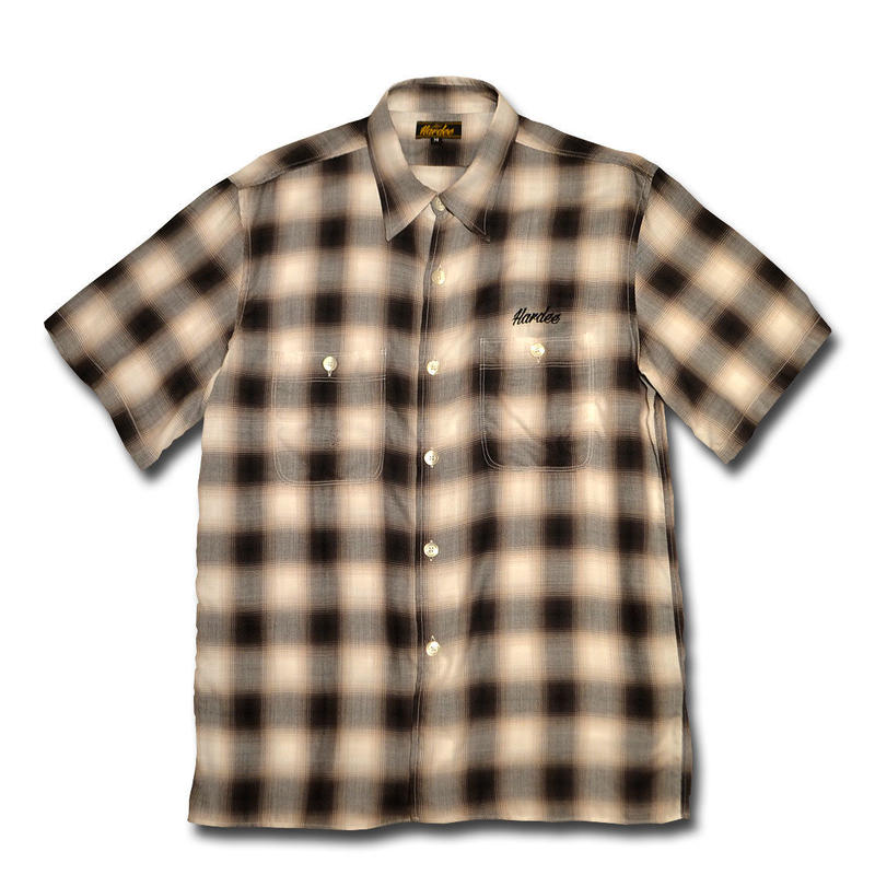 HARDEE OLD MAN S/S SHIRT BROWN