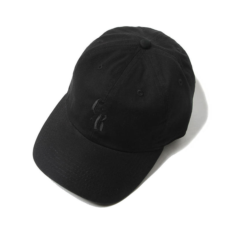 CUTRATE LOGO EMBROIDERY CAP BLACK