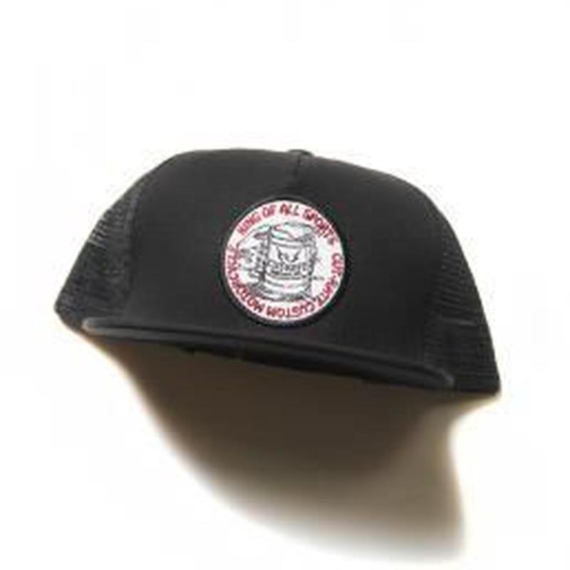 CUTRATE BEER WAPPEN MESH CAP BLACK.RED