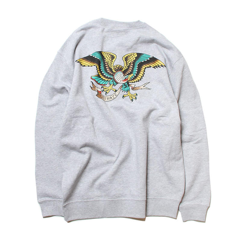 CUTRATE EAGLE CREW SWEAT GRAY