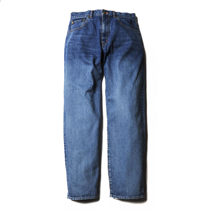 CUTRATE TAPERED WIDE DENIM PANTS