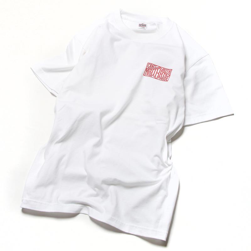 CUTRATE BOX LOGO T-SHIRT  WHITE