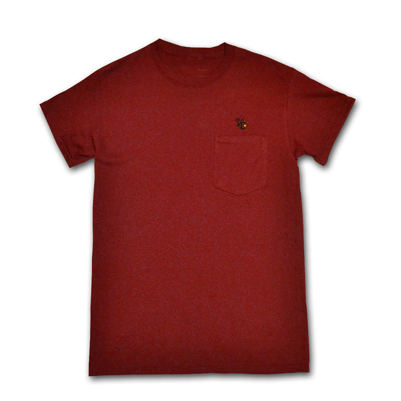 HARDEE BURN POCKET T-SHIRT BURGUNDY