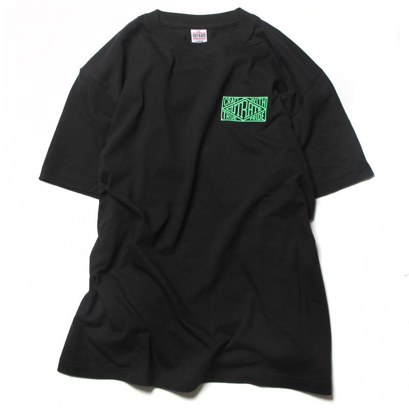 CUTRATE BOX LOGO T-SHIRT BLACK