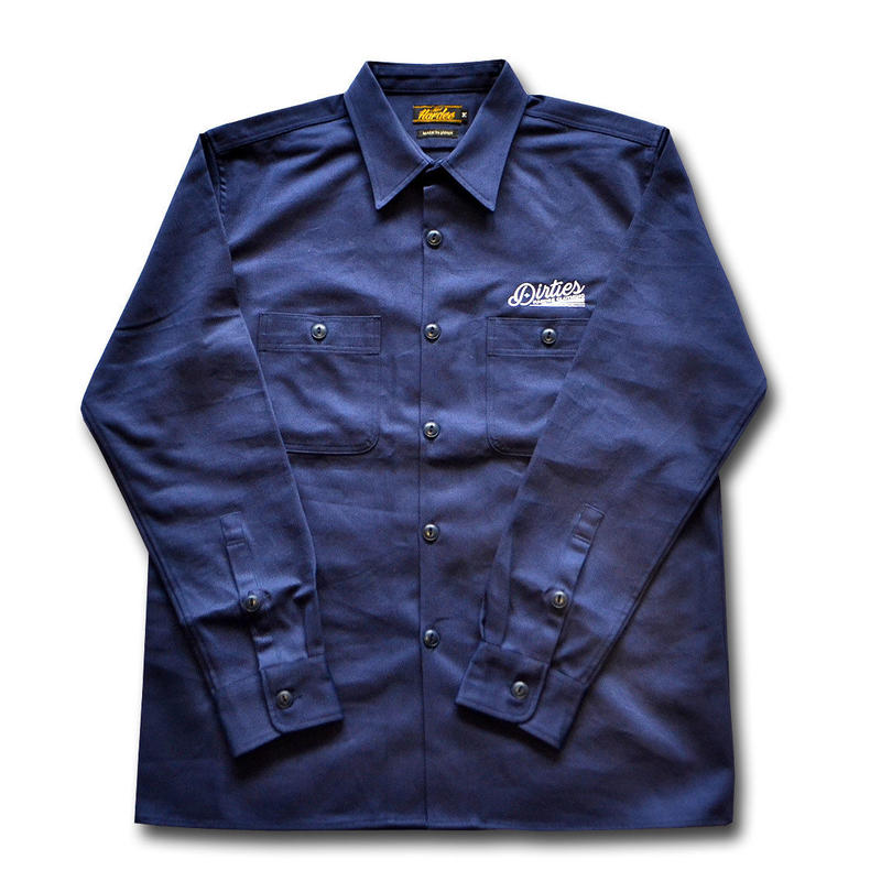 HARDEE BUILDUP L/S WORK SHIRT NAVY