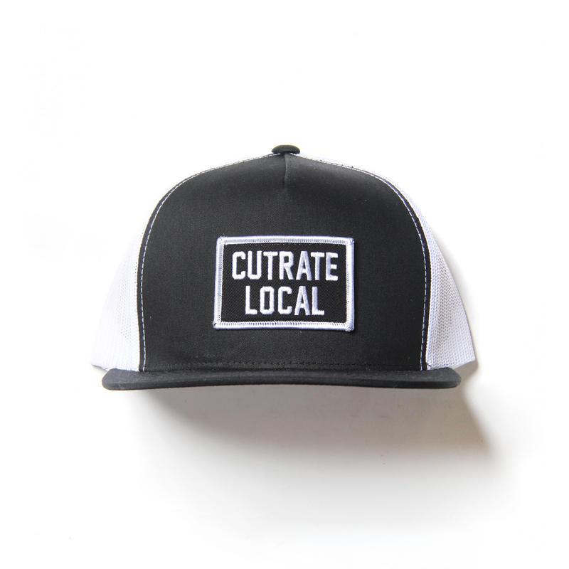 CUTRATE WAPPEN MESH CAP BLACK.WHITE