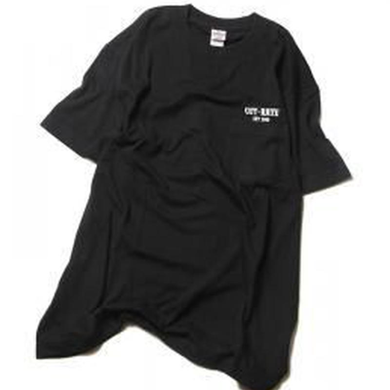 CUTRATE LOGO POCKET T-SHIRT BLACK