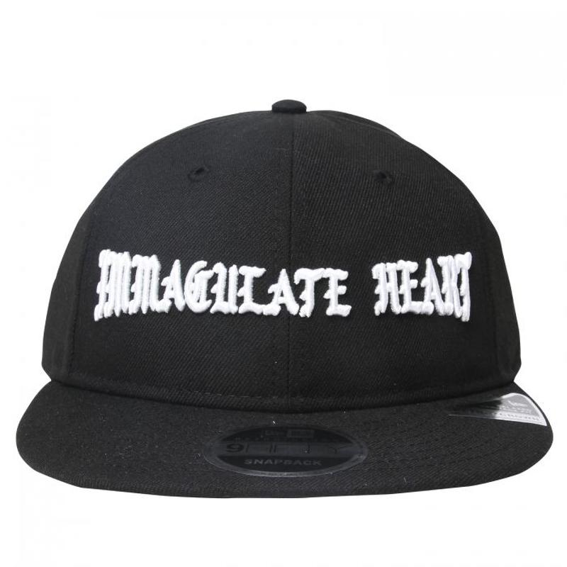 BORN X RAISED IMMACULATE HEART STRAP BACK BLACK