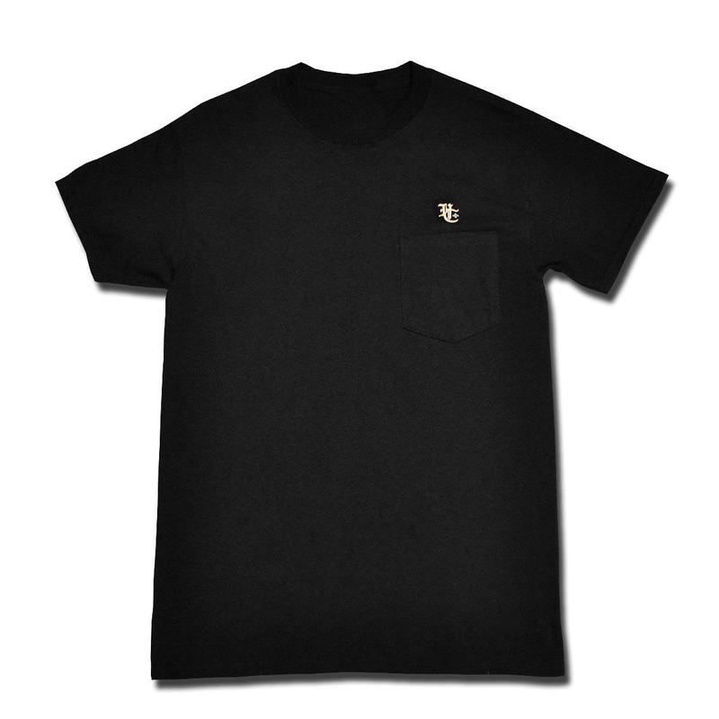 HARDEE BURN POCKET T-SHIRT BLACK