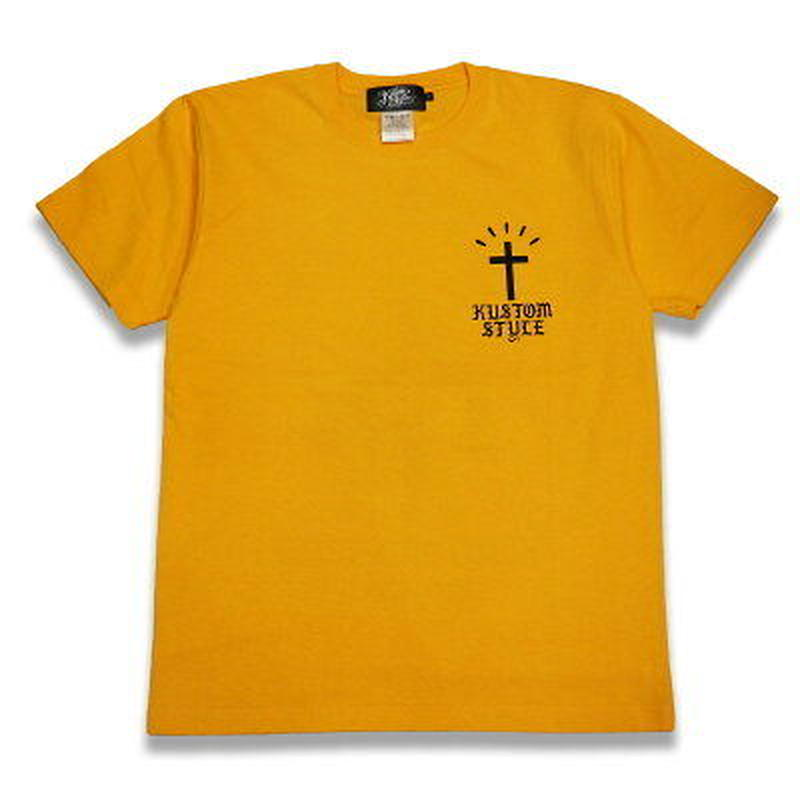 "KUSTOMSTYLE ""RECOGNIZED"" GOLDEN YELLOW TEE"