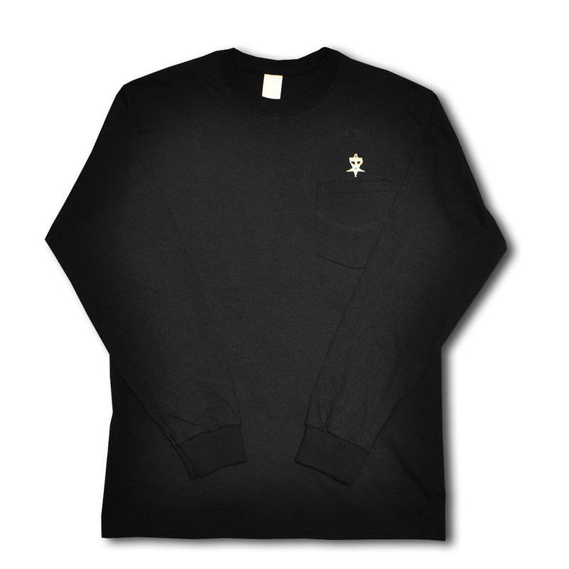 HARDEE UNSAFETY L/S POCKET T-SHIRT BLACK