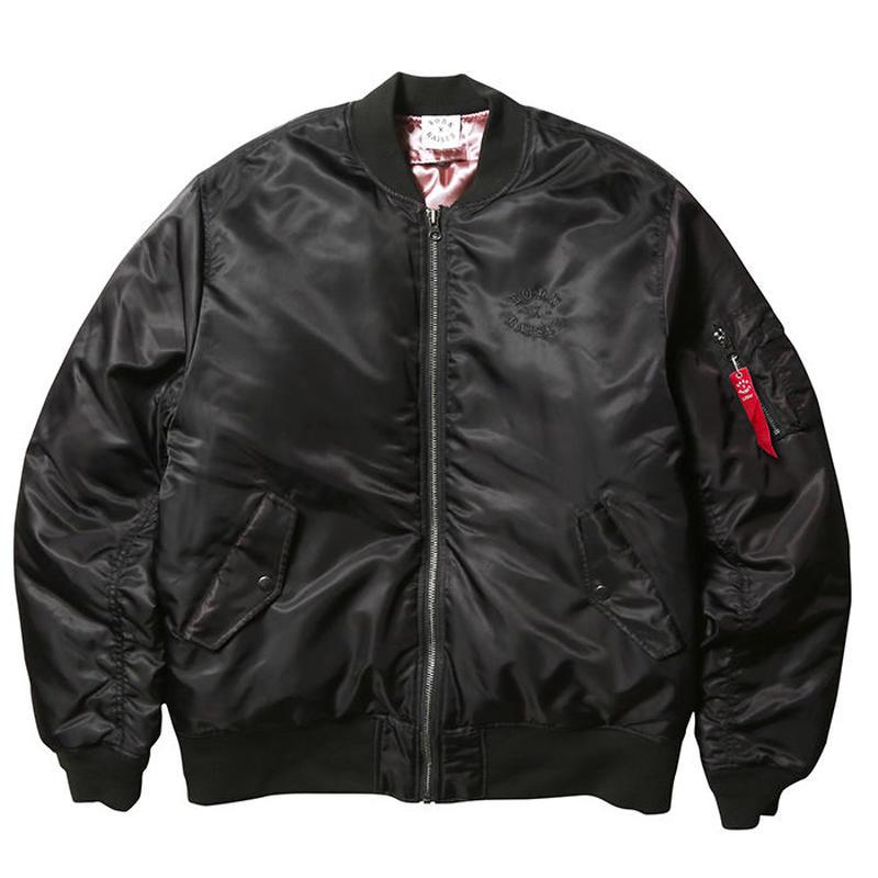 BORN X RAISED MA-1 JACKET  BLACK