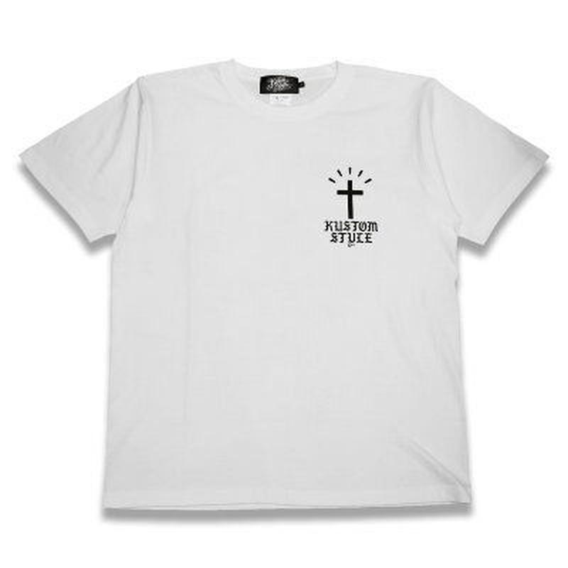 "KUSTOMSTYLE ""RECOGNIZED"" GOLDEN WHITE TEE"