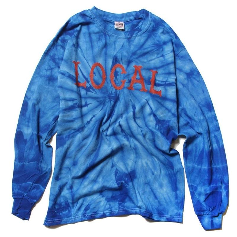 CUTRATE TIE DYE LOCAL L/S T-SHIRT BLUE